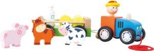 Farmi traktor koos loomadega