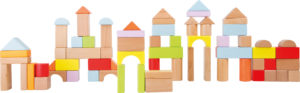 """Puidust ehitusklotsid """"Värvilised"""""""