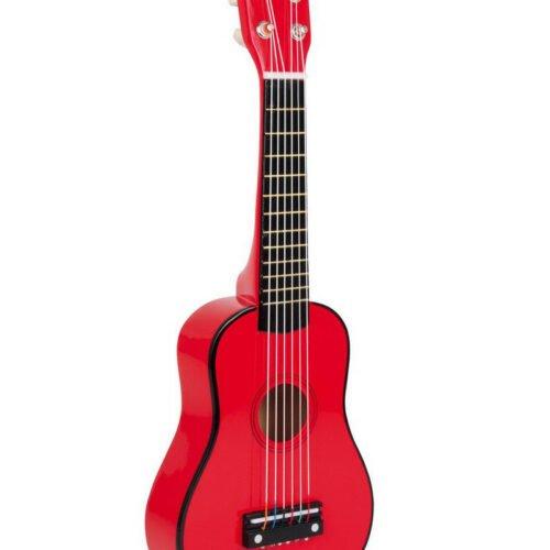 Punane puidust kitarr